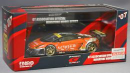 EBBRO 1/43 triple Gallardo RG-3 Super GT07
